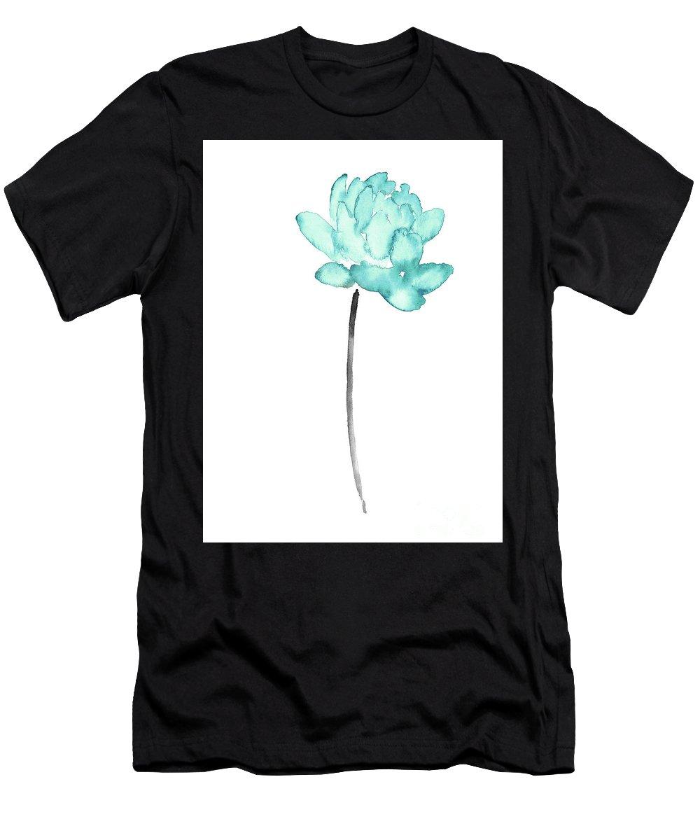 Blue Lotus Flower Watercolor Painting Abstract Flower Art Print