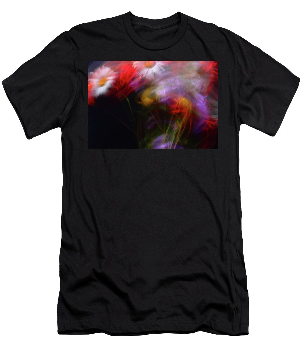 Abstract Men's T-Shirt (Athletic Fit) featuring the photograph Abstract Flowers One by Jeff Townsend
