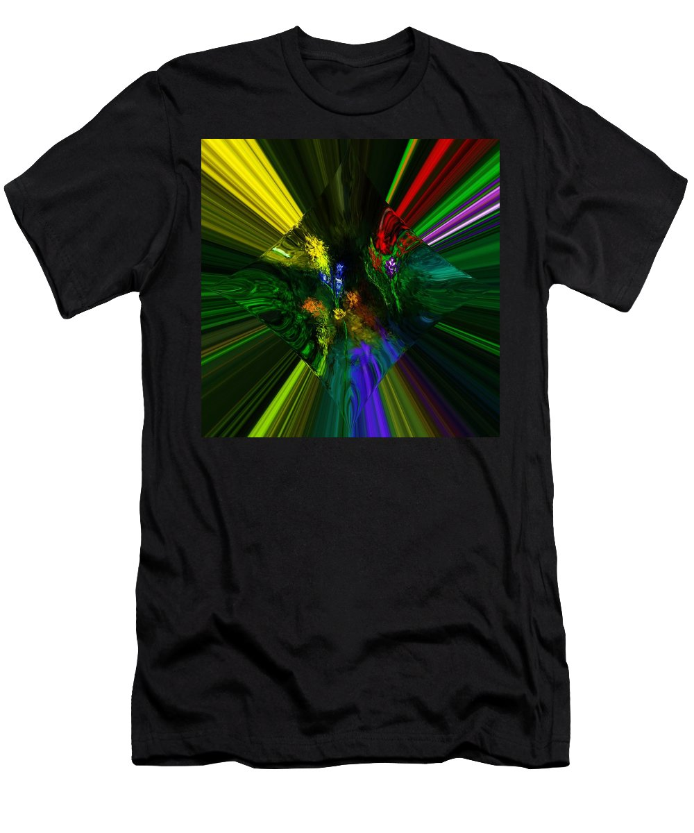 Digital Painting Men's T-Shirt (Athletic Fit) featuring the digital art Abstract Garden by David Lane