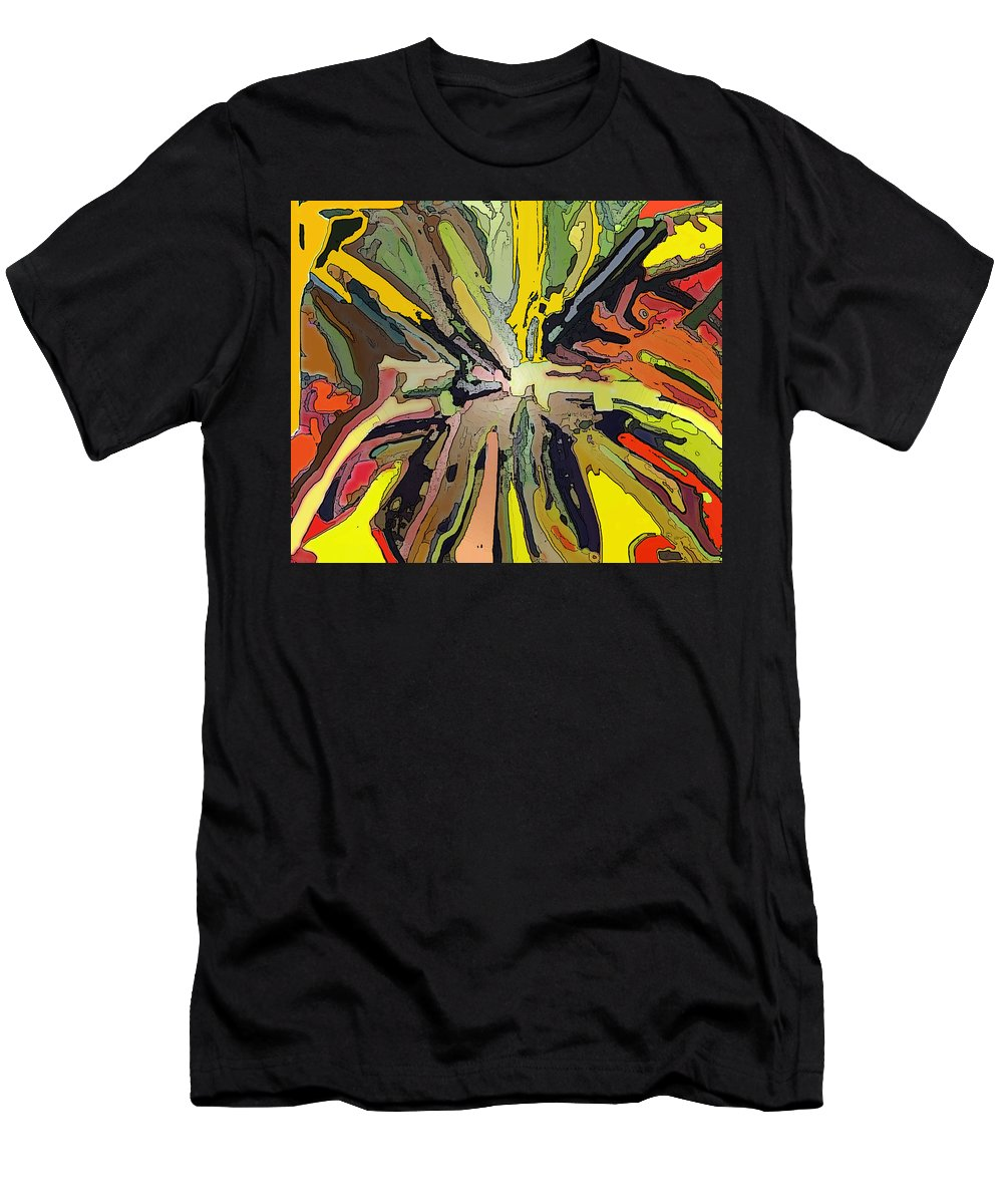 Abstract T-Shirt featuring the digital art Abstract Garden Defined by Ian MacDonald