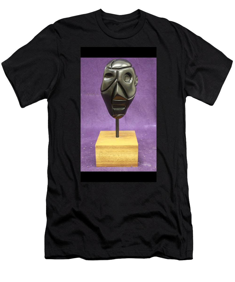 Abstract Men's T-Shirt (Athletic Fit) featuring the sculpture Abstract Head by Christopher Denham