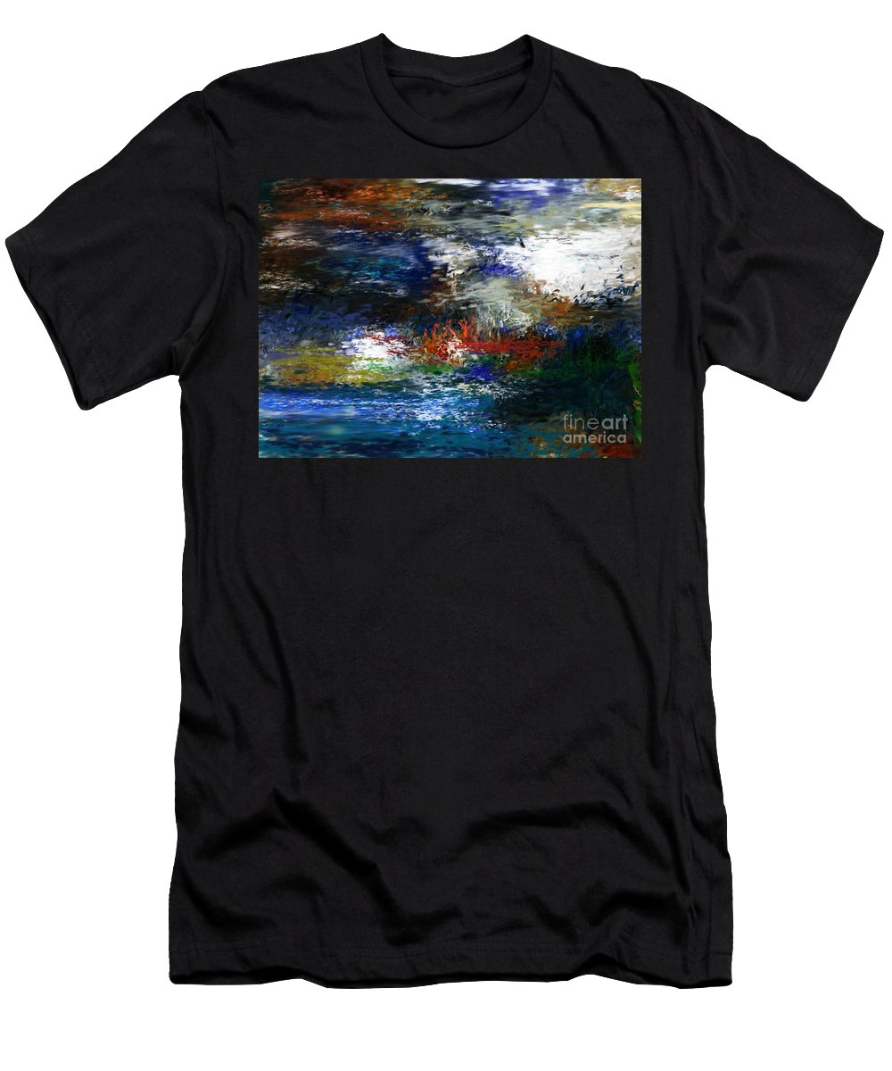 Abstract Men's T-Shirt (Athletic Fit) featuring the digital art Abstract Impression 5-9-09 by David Lane