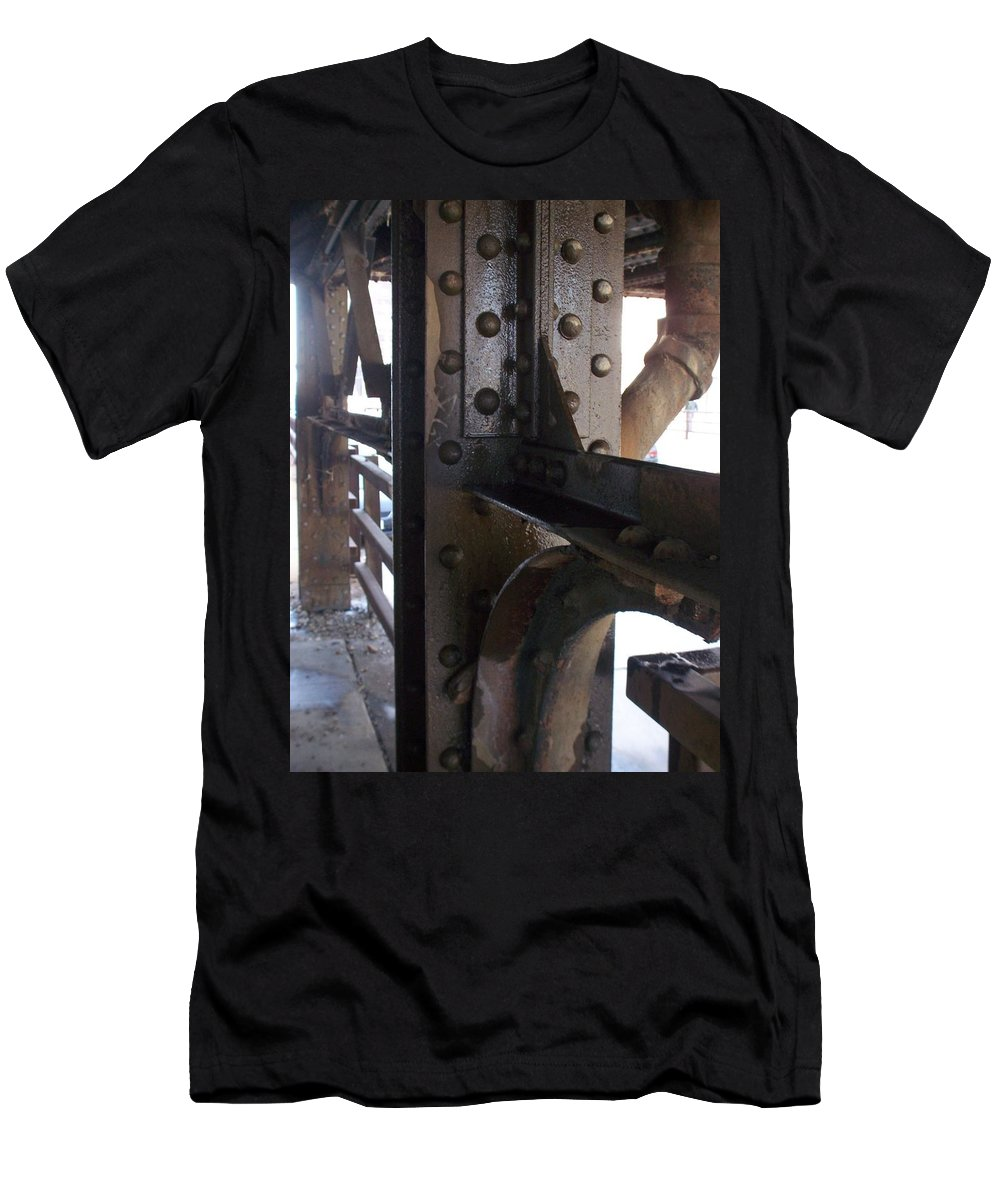 Industrial Men's T-Shirt (Athletic Fit) featuring the photograph Abstract Rust 5 by Anita Burgermeister
