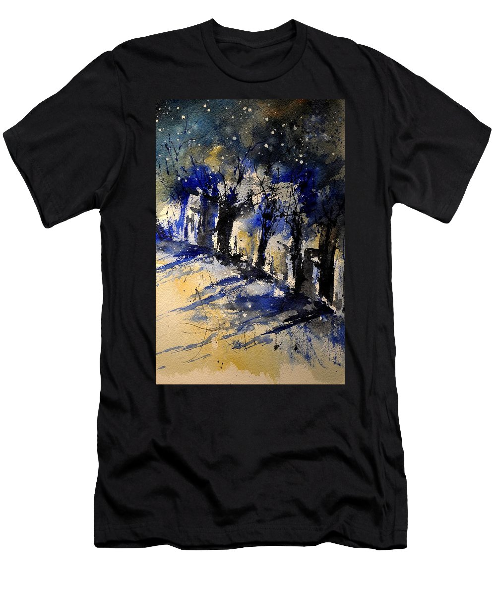 Abstract T-Shirt featuring the painting Abstract Trees by Pol Ledent