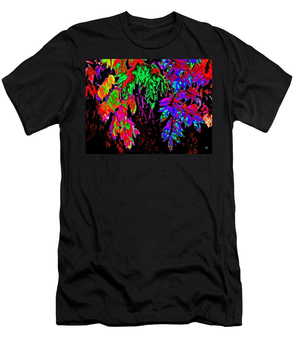 Abstract Men's T-Shirt (Athletic Fit) featuring the digital art Abstract Wisteria by Will Borden