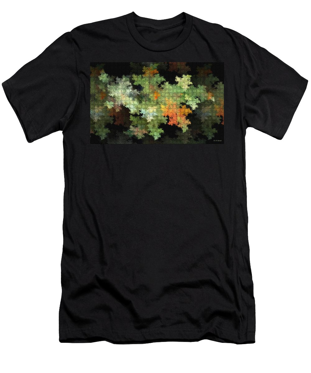 Digital Men's T-Shirt (Athletic Fit) featuring the mixed media Abstract World by Deborah Benoit
