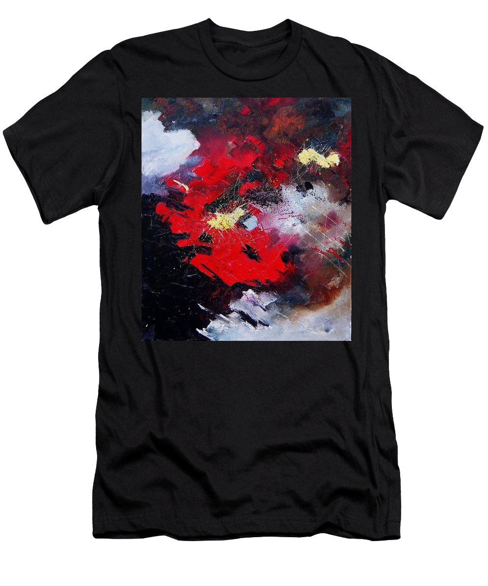 Abstract Men's T-Shirt (Athletic Fit) featuring the painting Abstract070406 by Pol Ledent