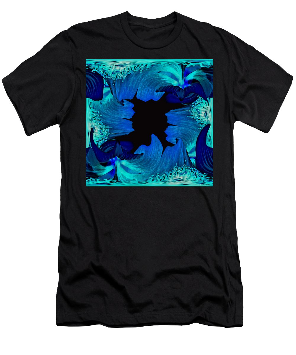 Flower Men's T-Shirt (Athletic Fit) featuring the photograph Abstract2014 by Linda Solomon