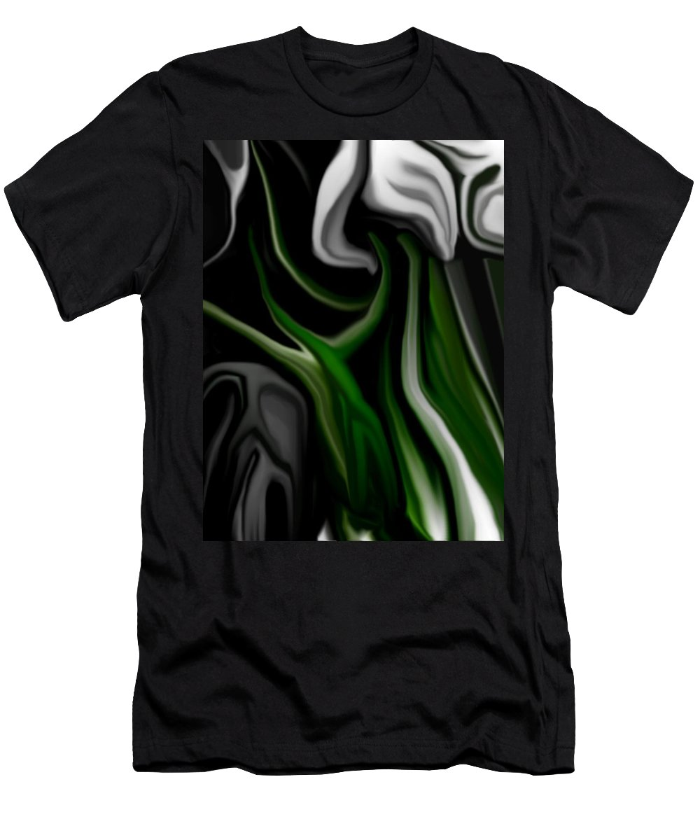 Abstract Men's T-Shirt (Athletic Fit) featuring the digital art Abstract309h by David Lane