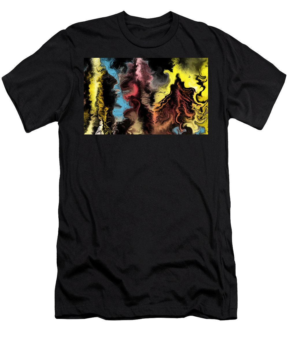 Abstract Men's T-Shirt (Athletic Fit) featuring the digital art Abstract309i by David Lane
