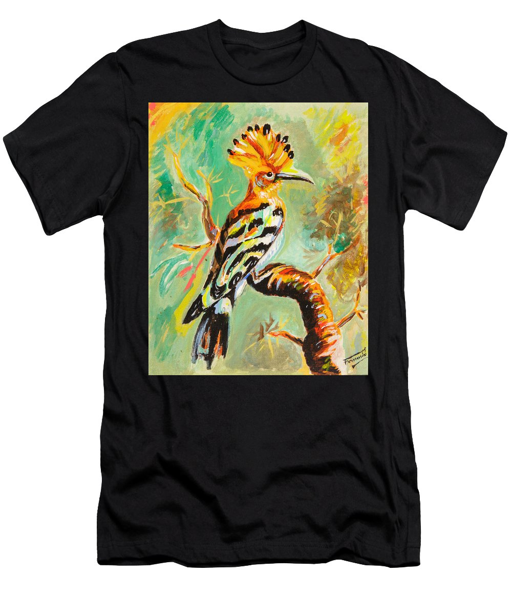 Men's T-Shirt (Athletic Fit) featuring the painting Abubilla by Fernando Bolivar