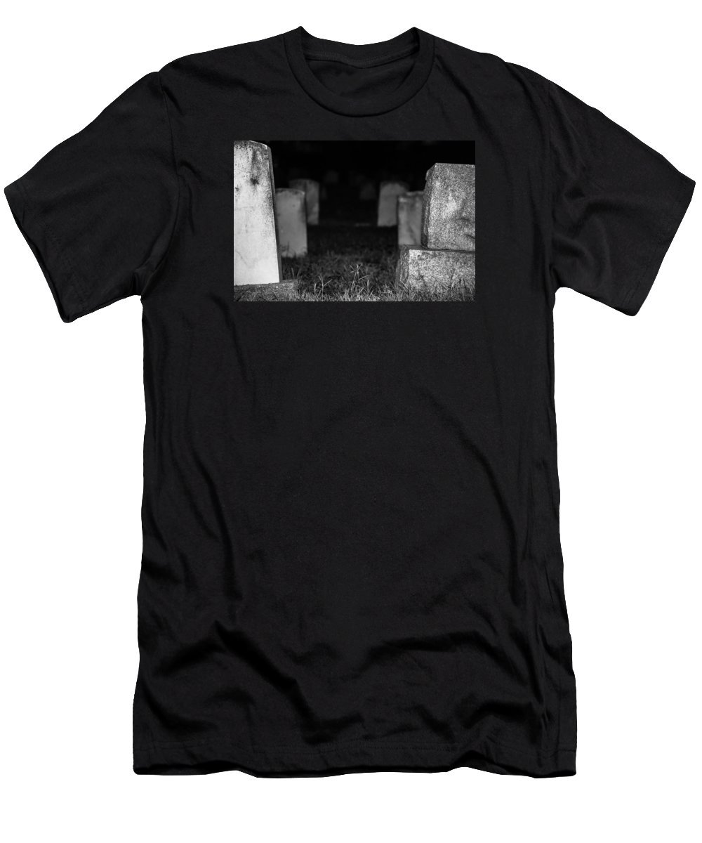 Cemetery Men's T-Shirt (Athletic Fit) featuring the photograph Abyss by Scarlet Starr