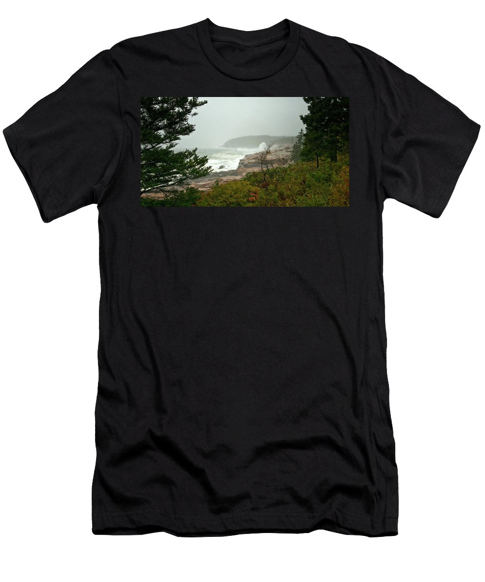 nor' Easter Men's T-Shirt (Athletic Fit) featuring the photograph Acadian Storm by Paul Mangold