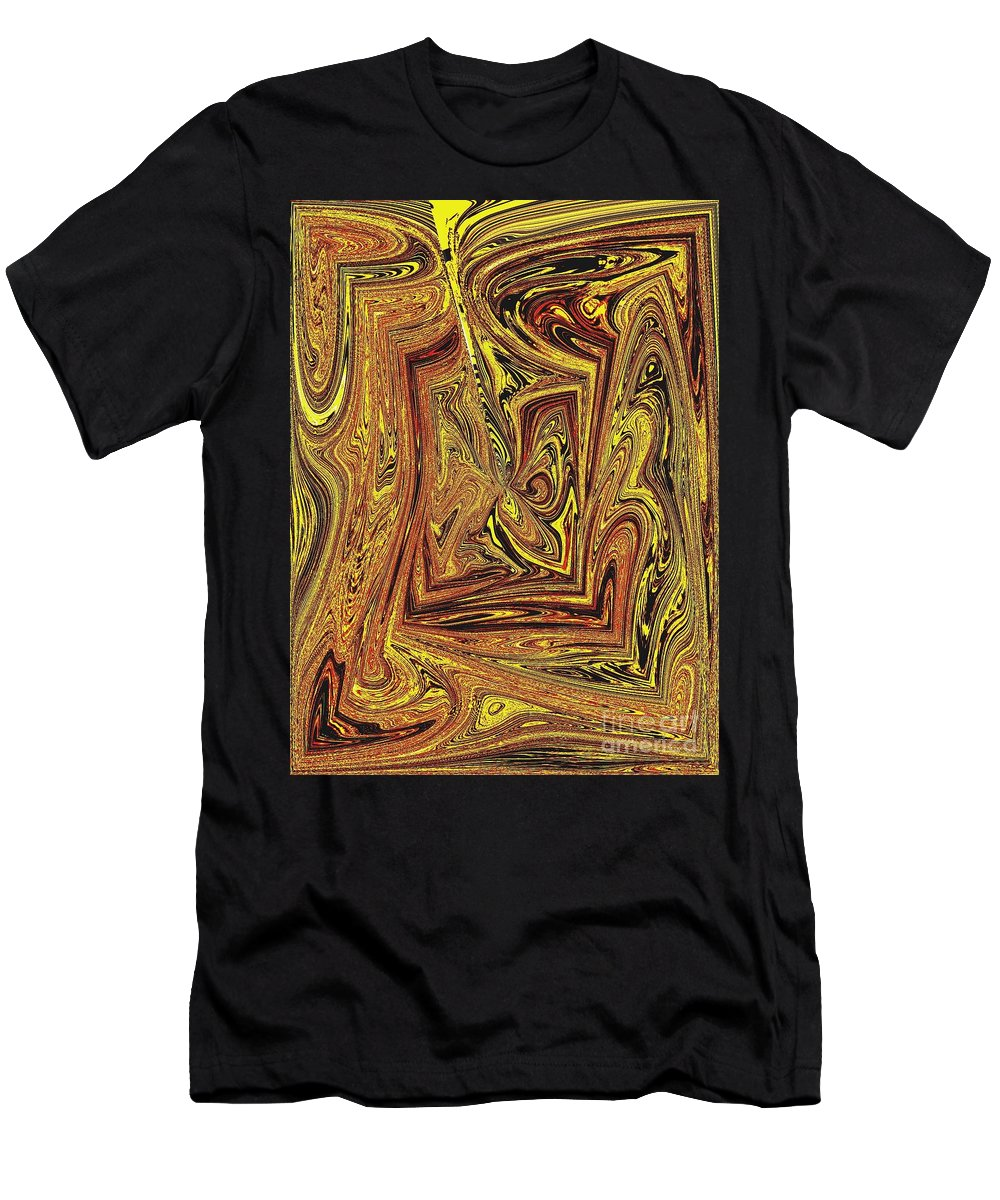 Hearts Men's T-Shirt (Athletic Fit) featuring the digital art Achey Breaking Arts In Living Color by Debra Lynch