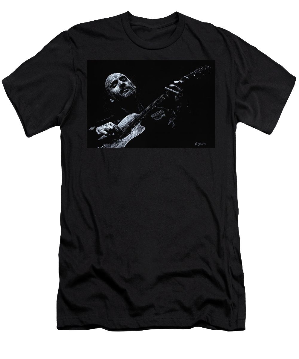Musician Men's T-Shirt (Athletic Fit) featuring the pastel Acoustic Serenade by Richard Young