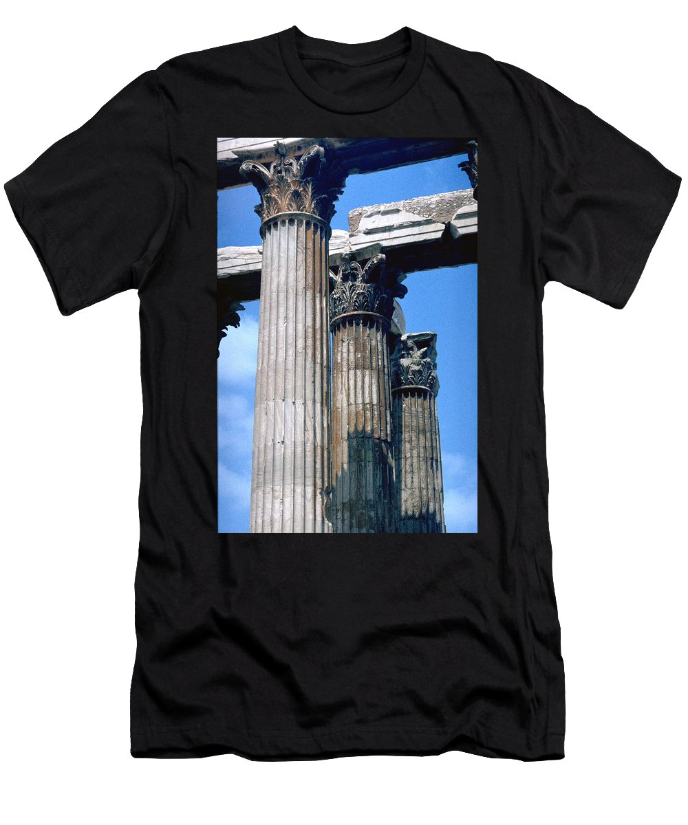 Acropolis Men's T-Shirt (Athletic Fit) featuring the photograph Acropolis by Flavia Westerwelle
