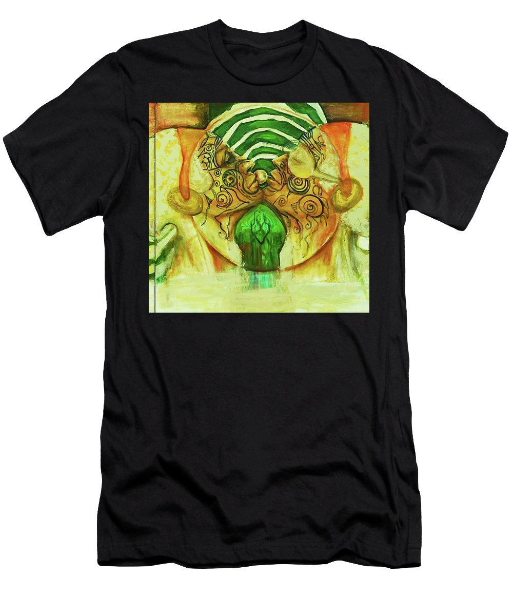 Creation Men's T-Shirt (Athletic Fit) featuring the painting Adam And Eve by Hengameh Abedin