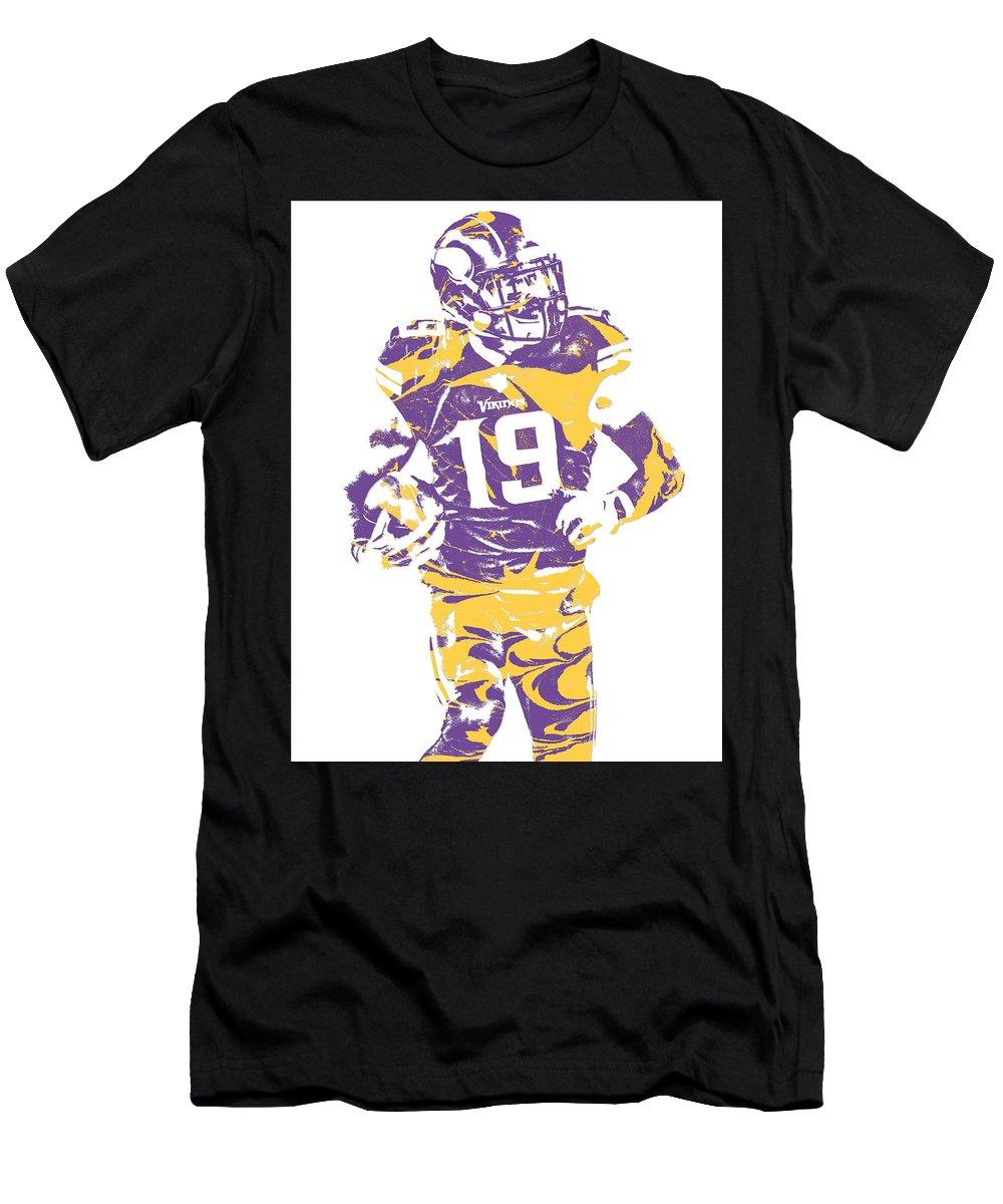new style a70ba dd274 Adam Thielen Minnesota Vikings Pixel Art 2 Men's T-Shirt (Athletic Fit)