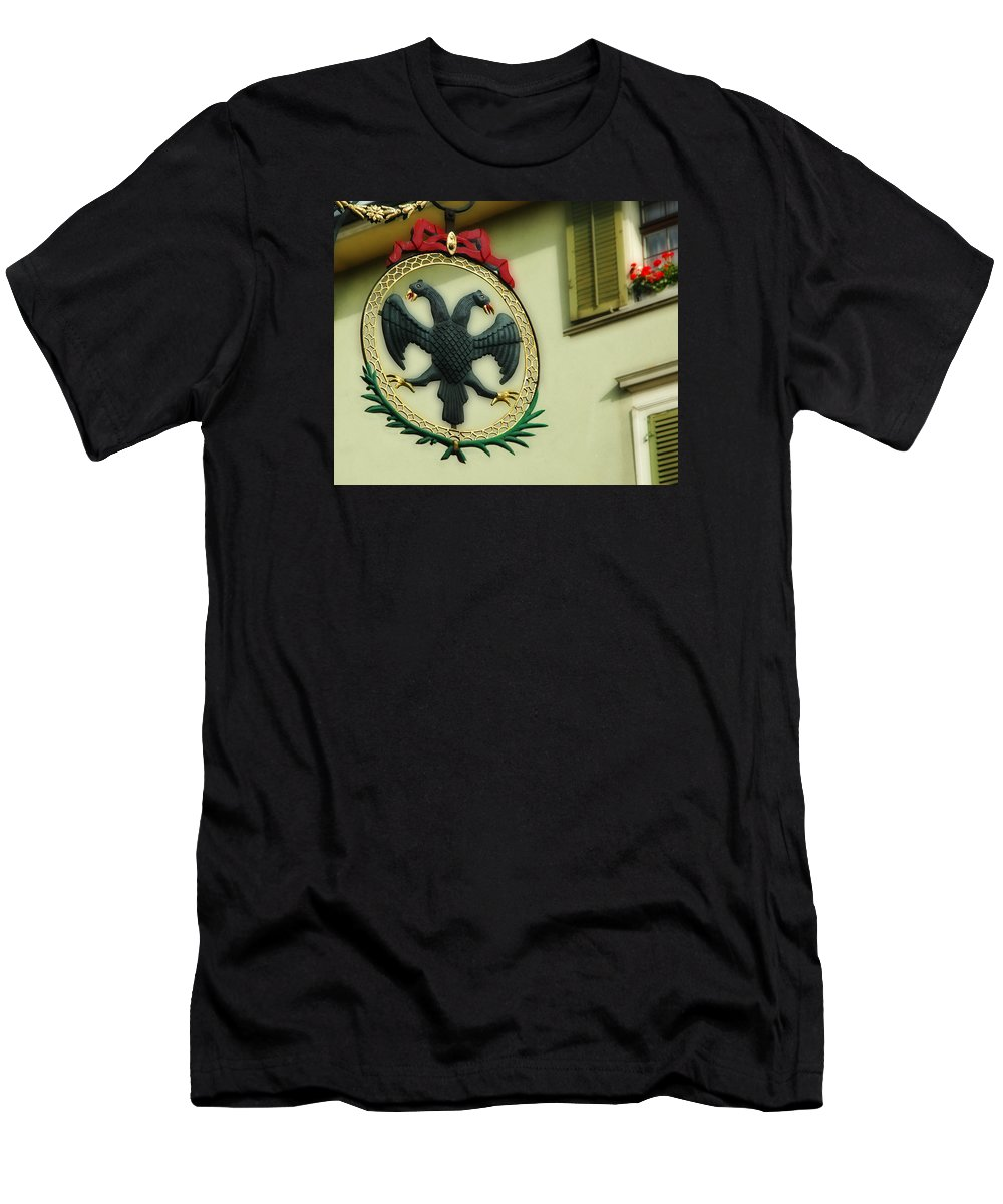 Zurich Men's T-Shirt (Athletic Fit) featuring the photograph Addler's Swiss Chuchi by Ginger Wakem