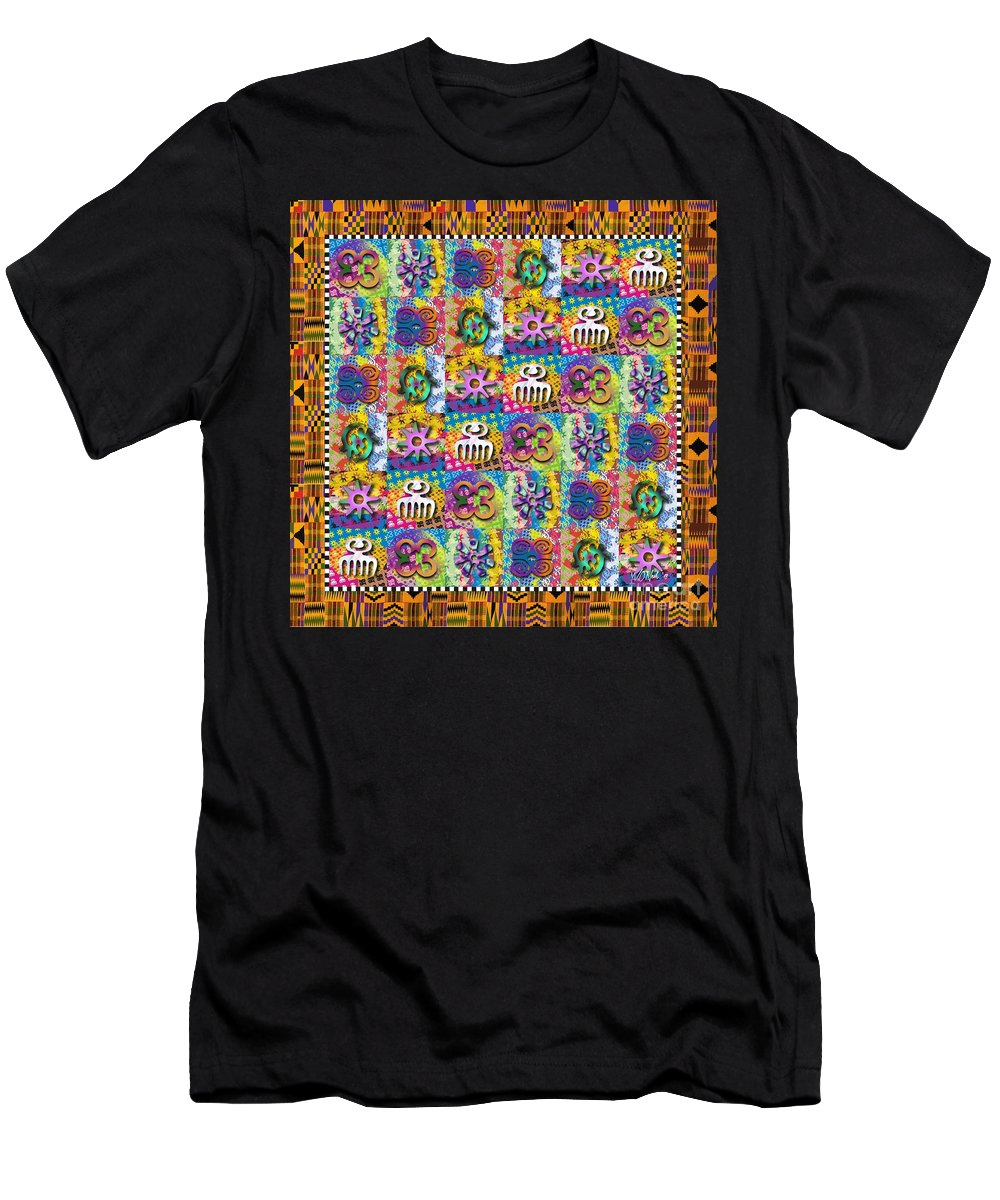 Symbols Men's T-Shirt (Athletic Fit) featuring the digital art A Royal Cloth by Walter Oliver Neal