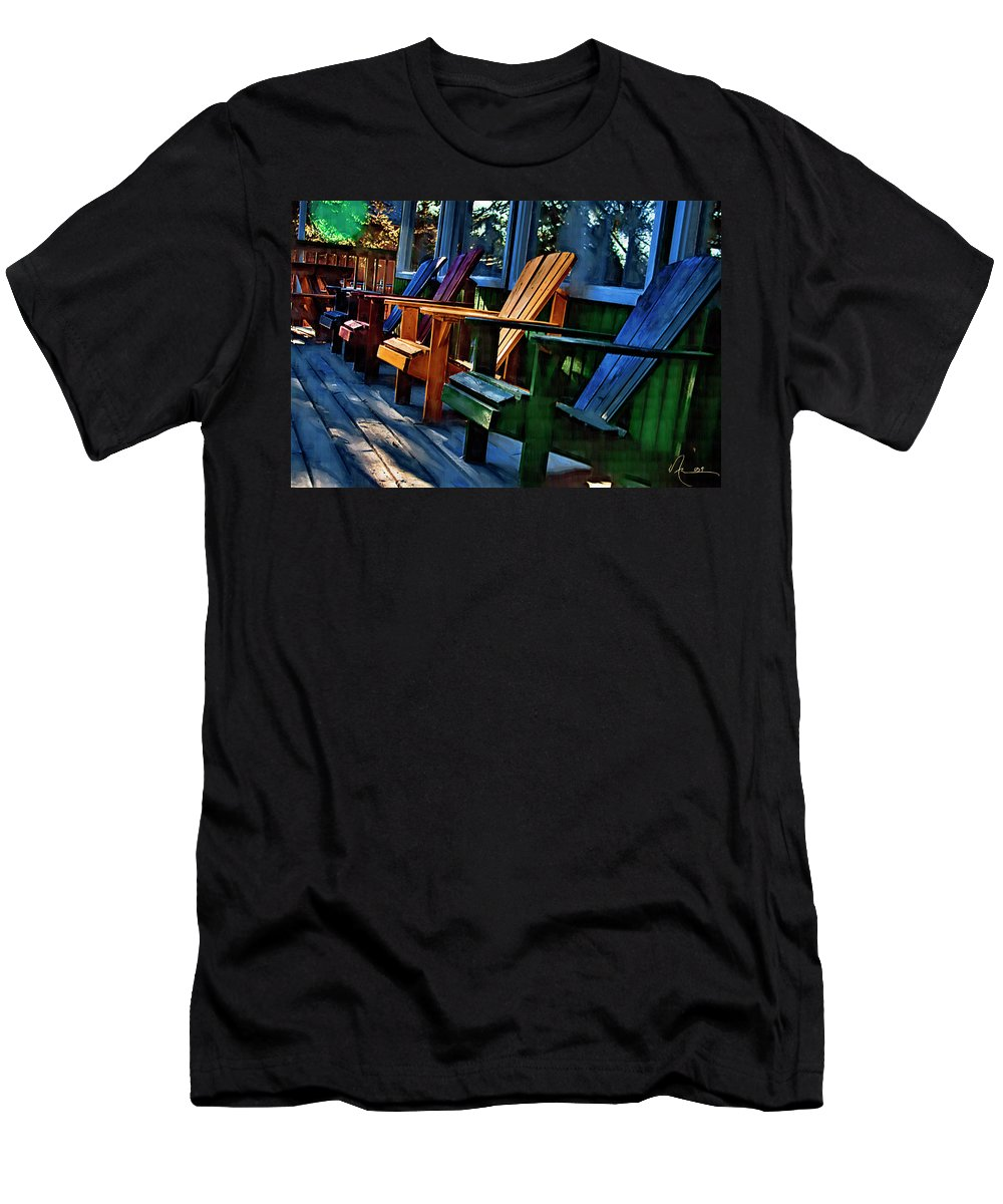 Adirondack Men's T-Shirt (Athletic Fit) featuring the photograph Adirondack by Monte Arnold
