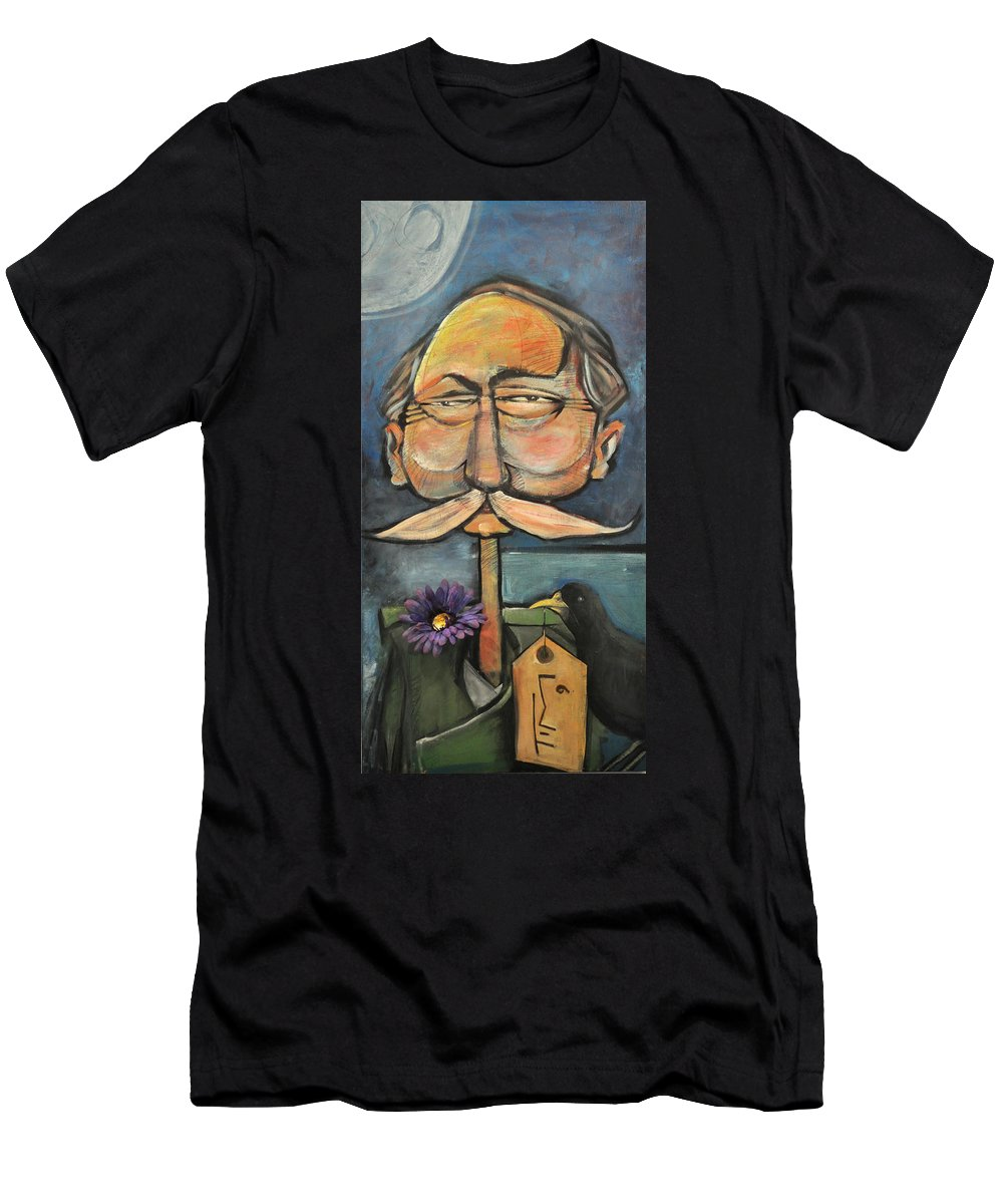 Bird Men's T-Shirt (Athletic Fit) featuring the painting Admiral Bird by Tim Nyberg