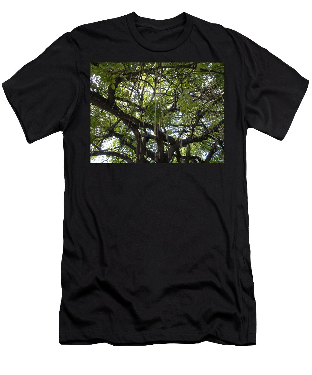 Trees Men's T-Shirt (Athletic Fit) featuring the photograph Aerial Network I by Maria Bonnier-Perez