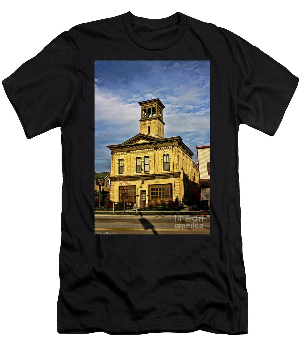 Aetna Men's T-Shirt (Athletic Fit) featuring the photograph Aetna No 5 by Tommy Anderson
