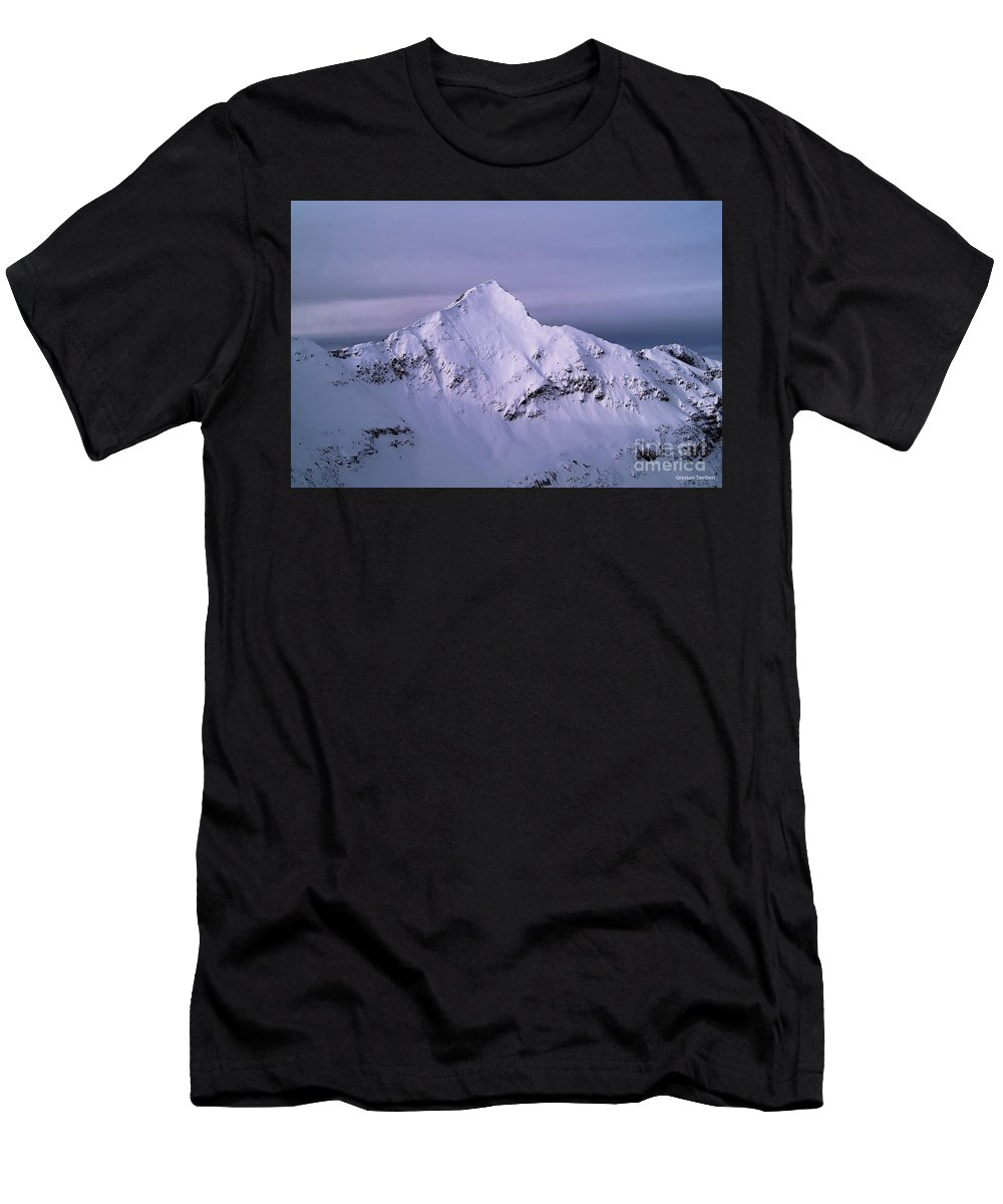 Landscape Men's T-Shirt (Athletic Fit) featuring the photograph Afley Peak by Grayson Tamberi