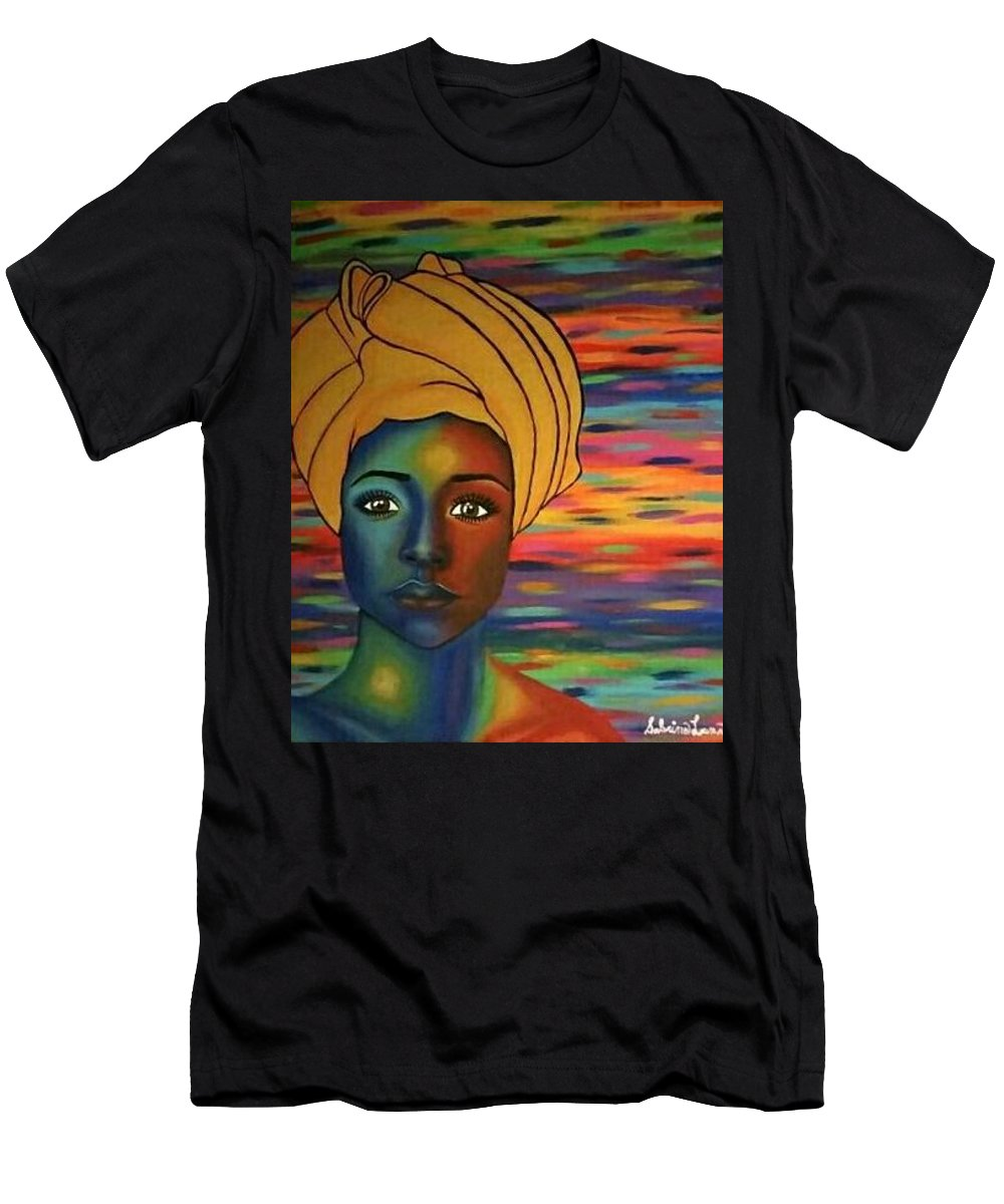Africa Men's T-Shirt (Athletic Fit) featuring the painting Africa by Sabrina Luna