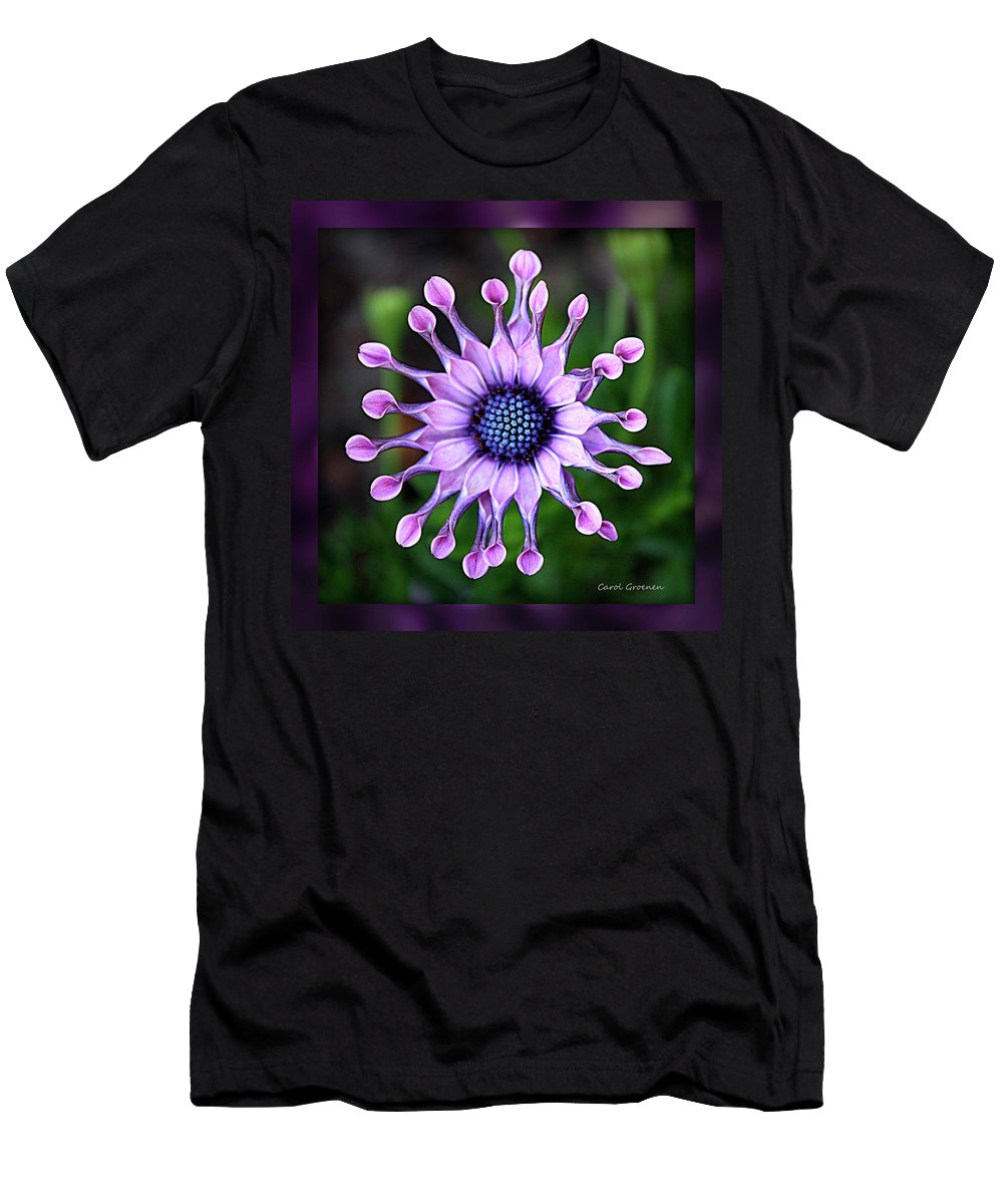 Flower Men's T-Shirt (Athletic Fit) featuring the photograph African Daisy - Hdr by Carol Groenen