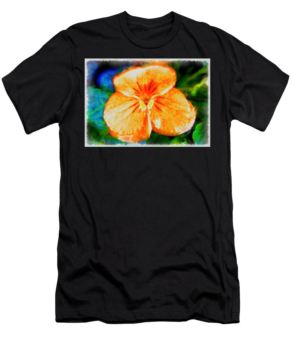 African Violet Men's T-Shirt (Athletic Fit) featuring the photograph African Violet In Rancho Santa Fe 2 by Kenneth Roberts