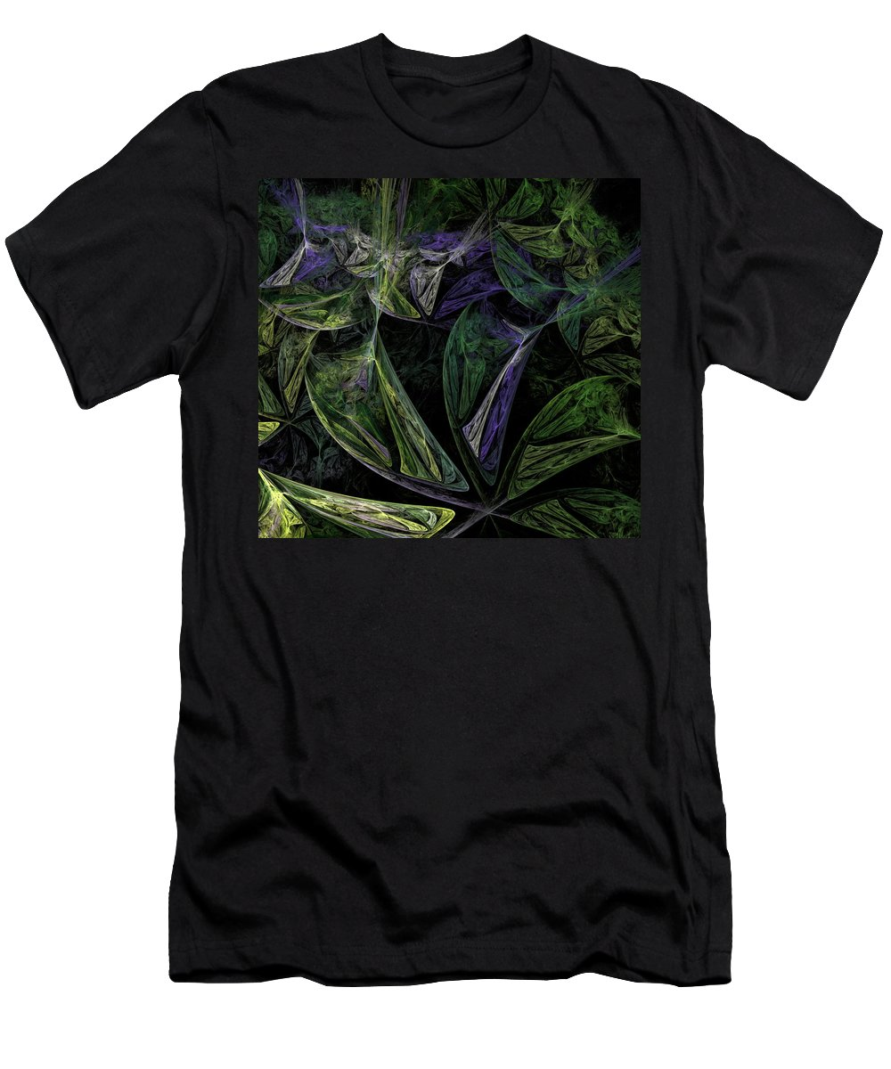 Digital Painting Men's T-Shirt (Athletic Fit) featuring the digital art Afro-violet Feeling by David Lane