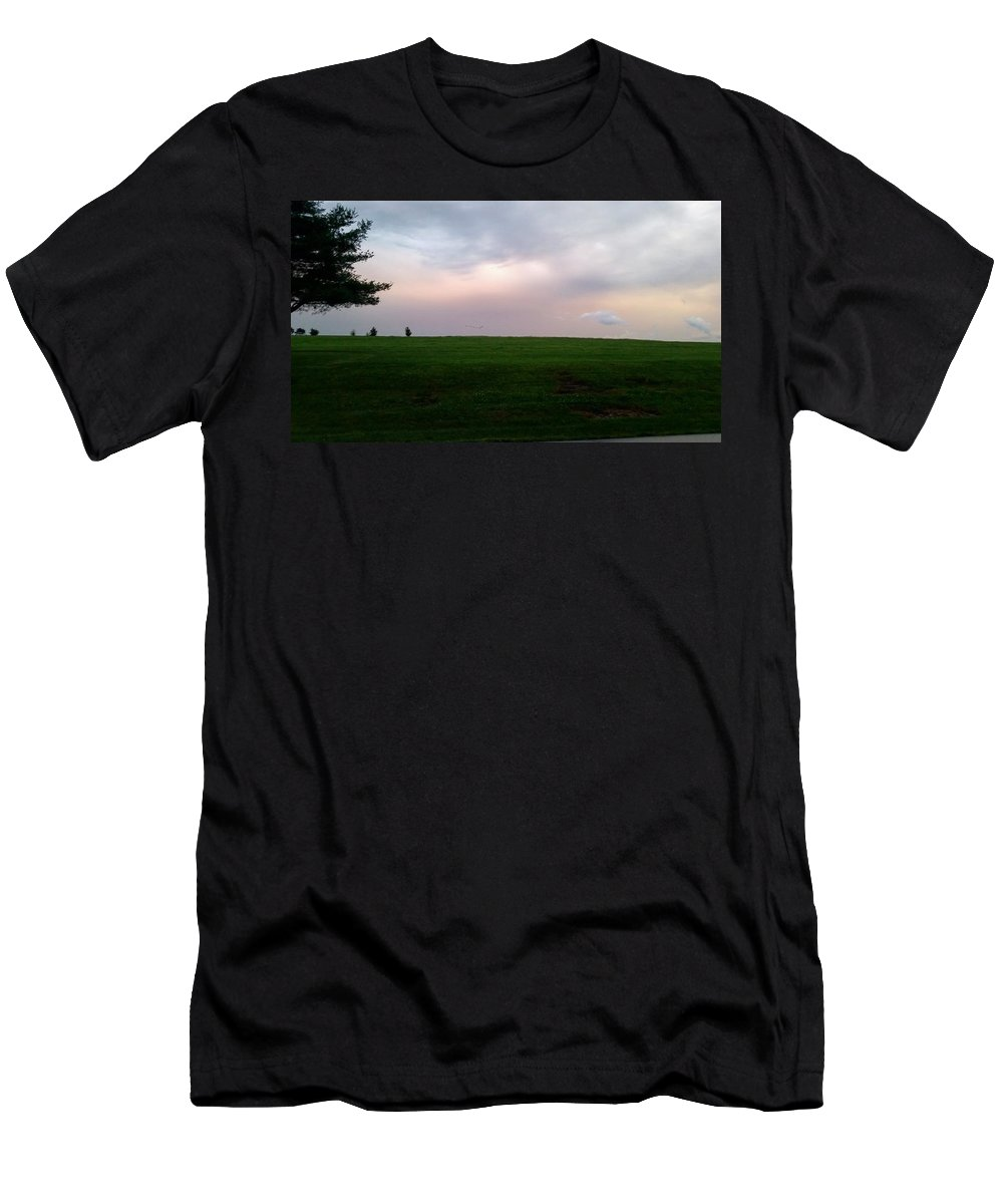 Relay For Life Summer Storm Landscape Kentucky Men's T-Shirt (Athletic Fit) featuring the photograph After A Summer Storm by Colby Foster