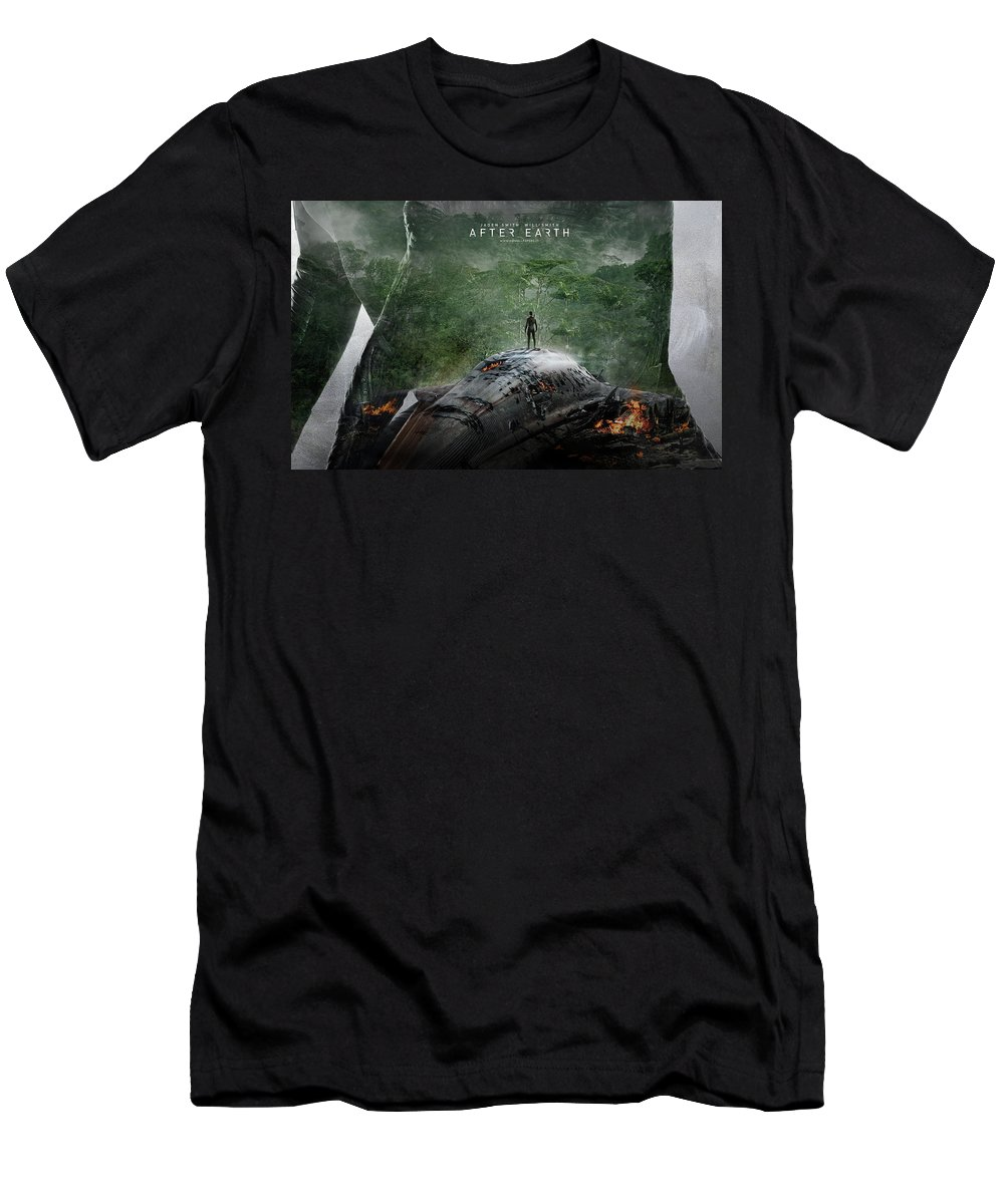 After Earth Movie Men's T-Shirt (Athletic Fit) featuring the digital art After Earth Movie 2013 by Mery Moon