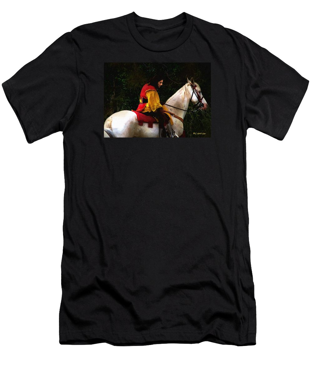 Horse Men's T-Shirt (Athletic Fit) featuring the painting After The Battle by RC DeWinter