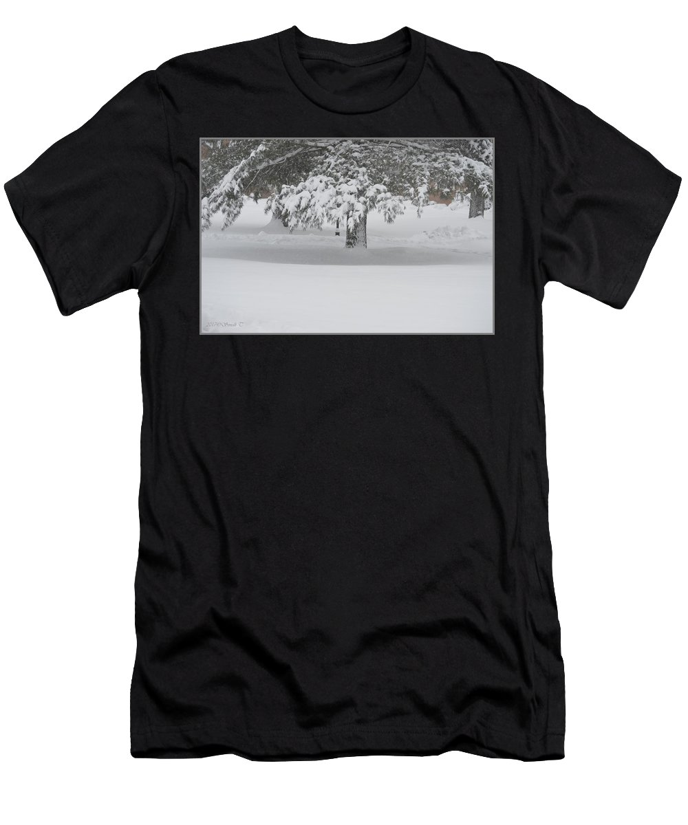 Blizzard Men's T-Shirt (Athletic Fit) featuring the photograph After The Blizzard by Sonali Gangane