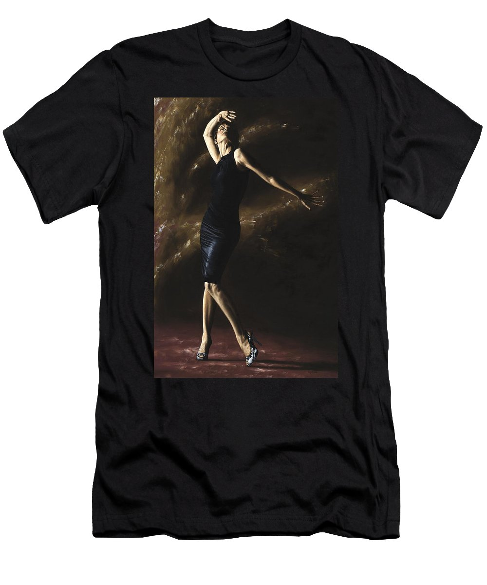 Dance Men's T-Shirt (Athletic Fit) featuring the painting After The Dance by Richard Young