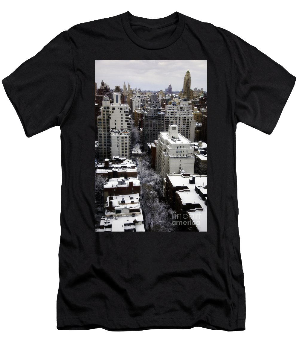 Snow Men's T-Shirt (Athletic Fit) featuring the photograph After The Snow Storm by Madeline Ellis