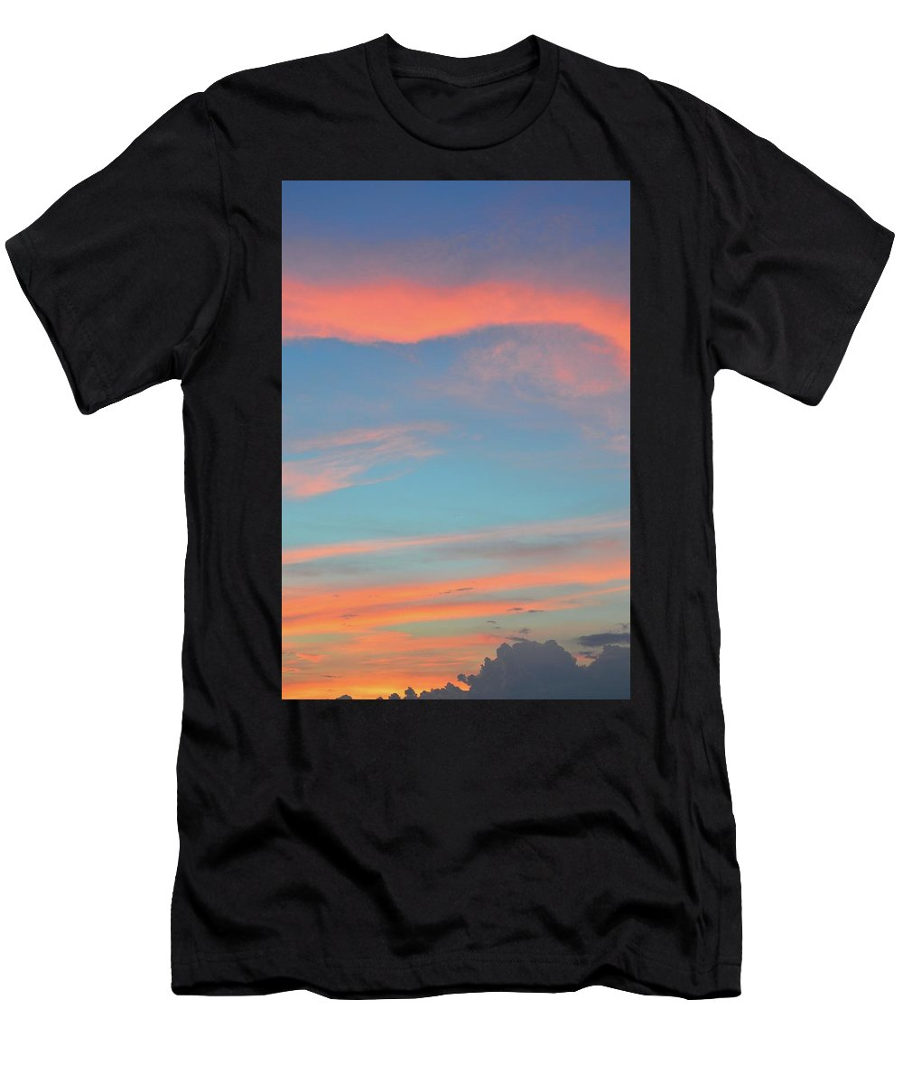 Abstract. Sunset Men's T-Shirt (Athletic Fit) featuring the photograph After The Sun Set by Lyle Crump