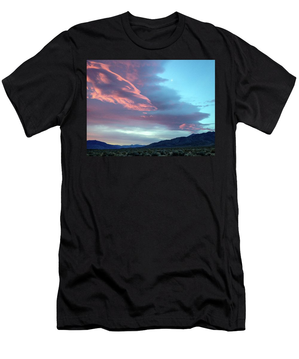 Clouds Men's T-Shirt (Athletic Fit) featuring the photograph Afterglow by Jennifer McMahon