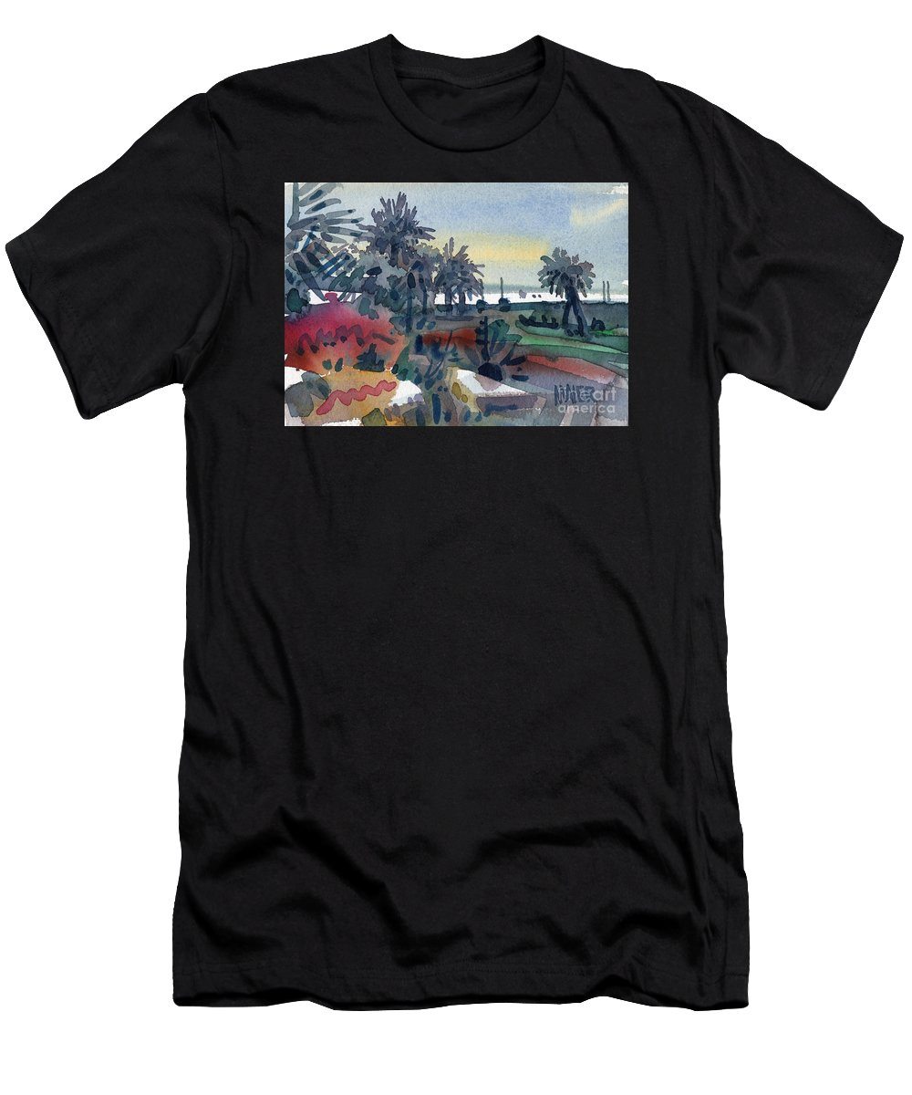 Tropical Men's T-Shirt (Athletic Fit) featuring the painting Afternoon In The Keys by Donald Maier