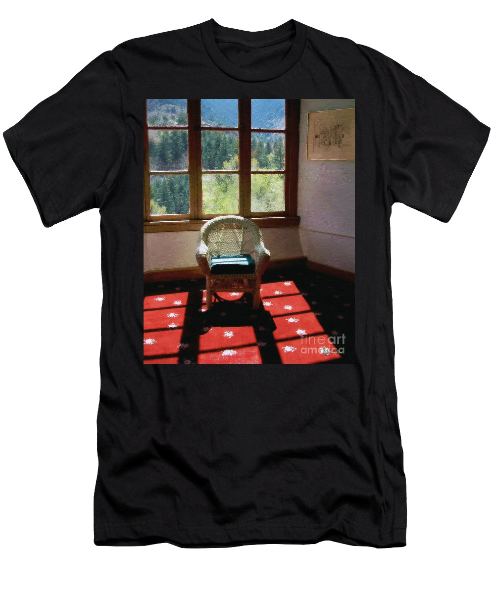 Antiques Men's T-Shirt (Athletic Fit) featuring the painting Afternoon In The Solarium by RC DeWinter