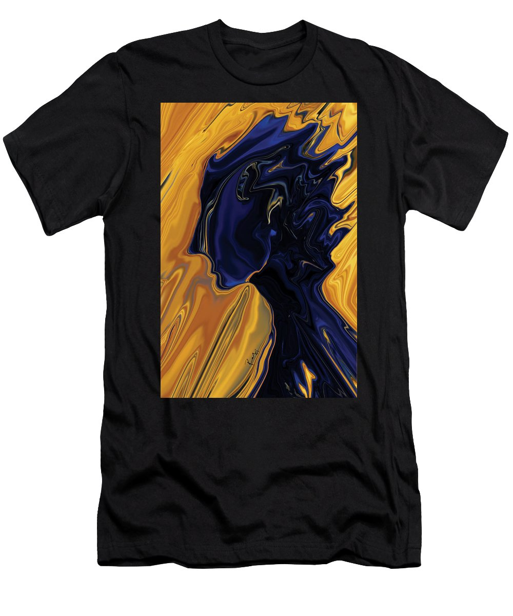 Abstract Men's T-Shirt (Athletic Fit) featuring the digital art Against The Wind by Rabi Khan