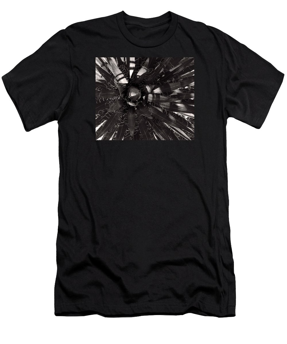 Agave Men's T-Shirt (Athletic Fit) featuring the photograph Agave by Steve Bisgrove