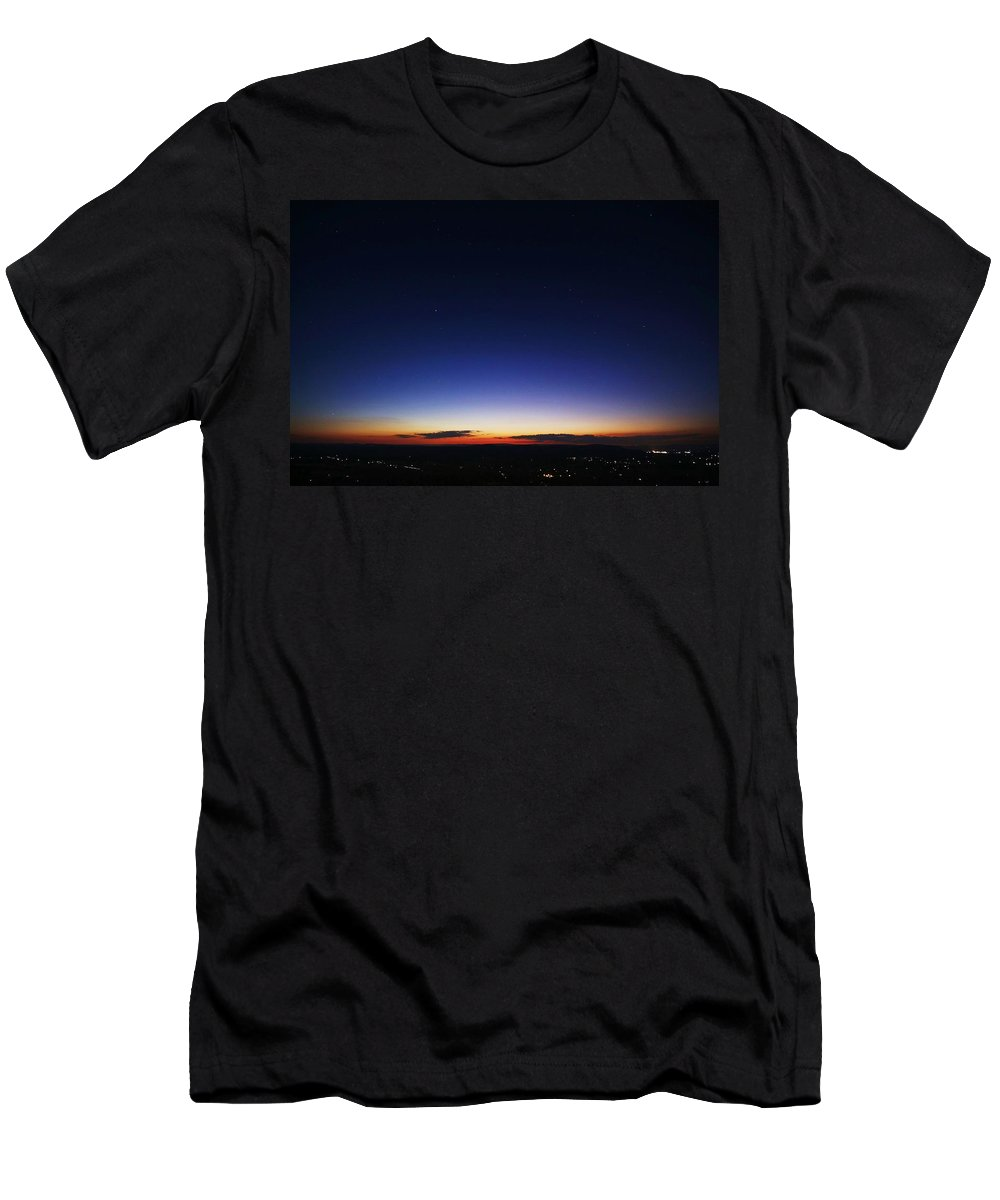 Twilight Men's T-Shirt (Athletic Fit) featuring the photograph Age Is Opportunity by Mitch Cat