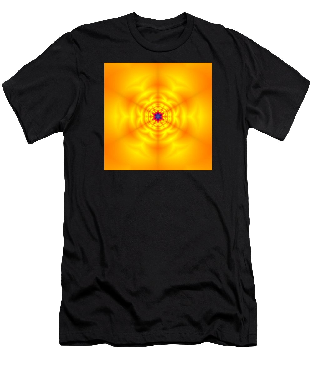 Mandala Men's T-Shirt (Athletic Fit) featuring the digital art Ahau 6 by Robert Thalmeier