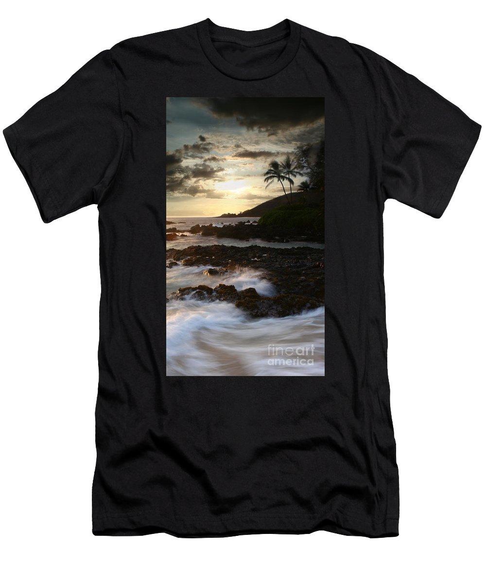 Aloha Men's T-Shirt (Athletic Fit) featuring the photograph Ahe Lau Makani O Paako by Sharon Mau