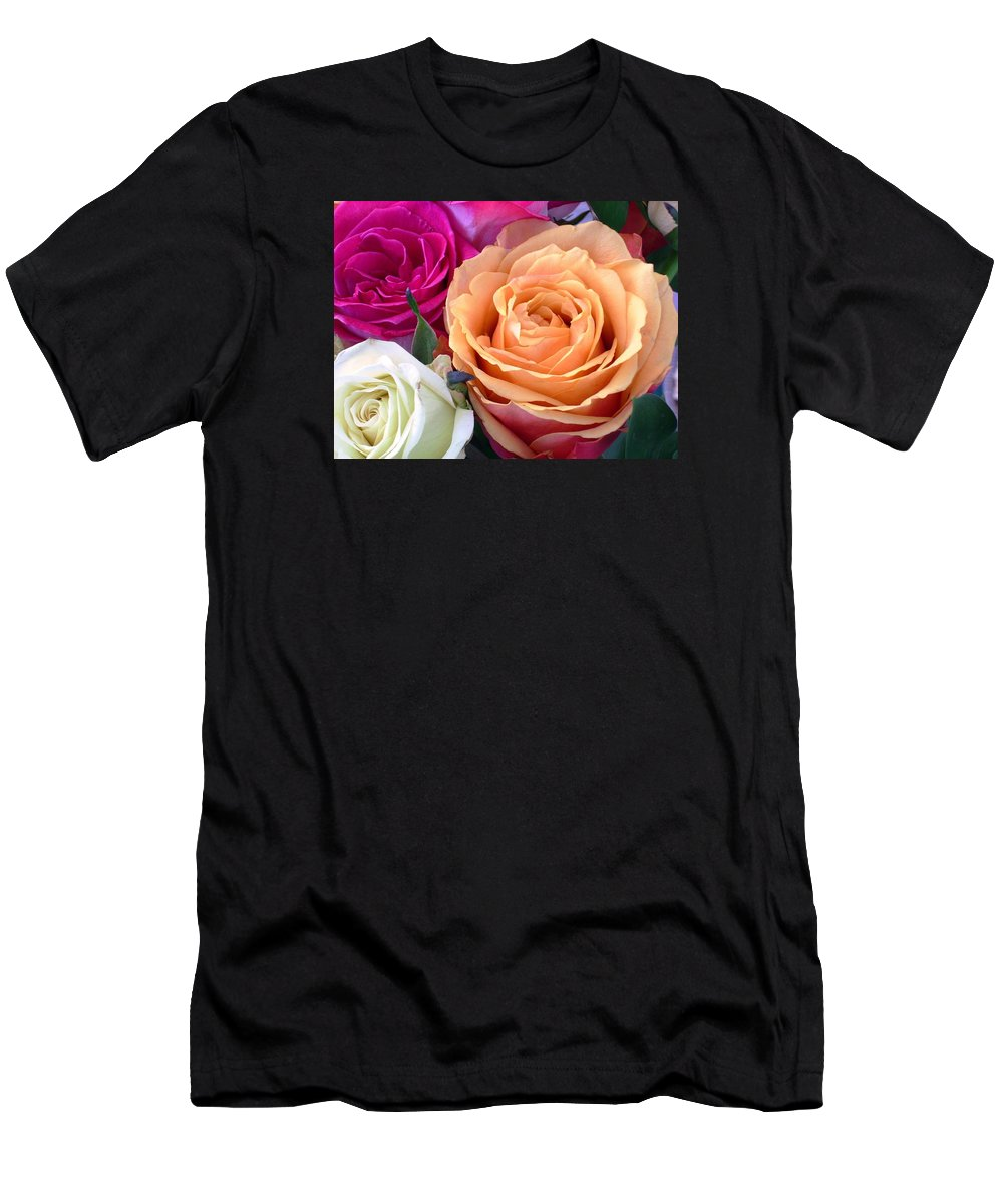 Rose Men's T-Shirt (Athletic Fit) featuring the photograph Ahhhh by Torie Beck