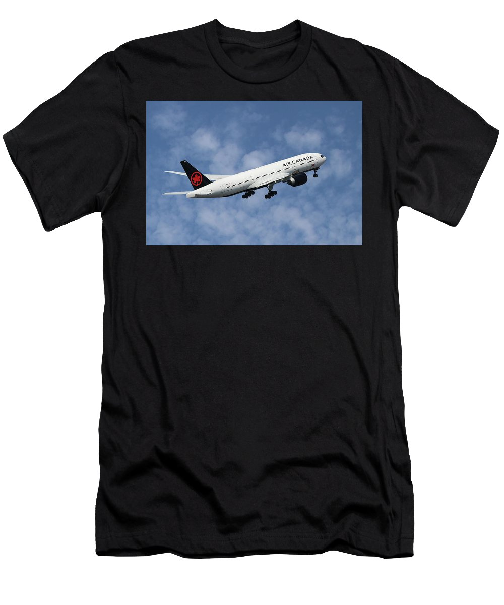 Air Canada Men's T-Shirt (Athletic Fit) featuring the photograph Air Canada Boeing 777-233 by Smart Aviation